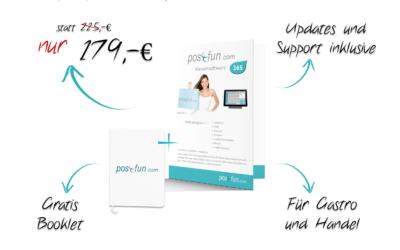 Pos4Fun Kassensoftware BOX nur 179,- Netto